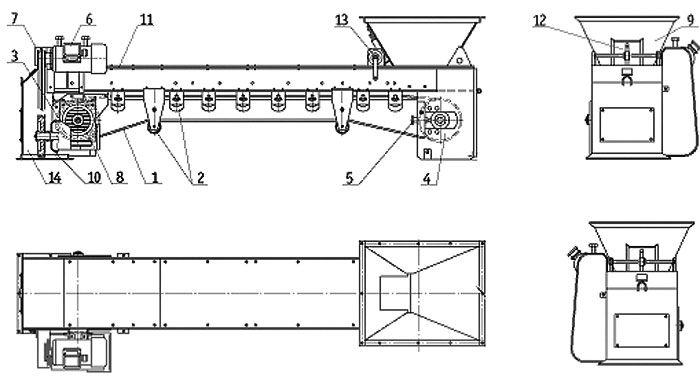 Питатель ленточный и конвейер ленточный Пробоотборник для зерна